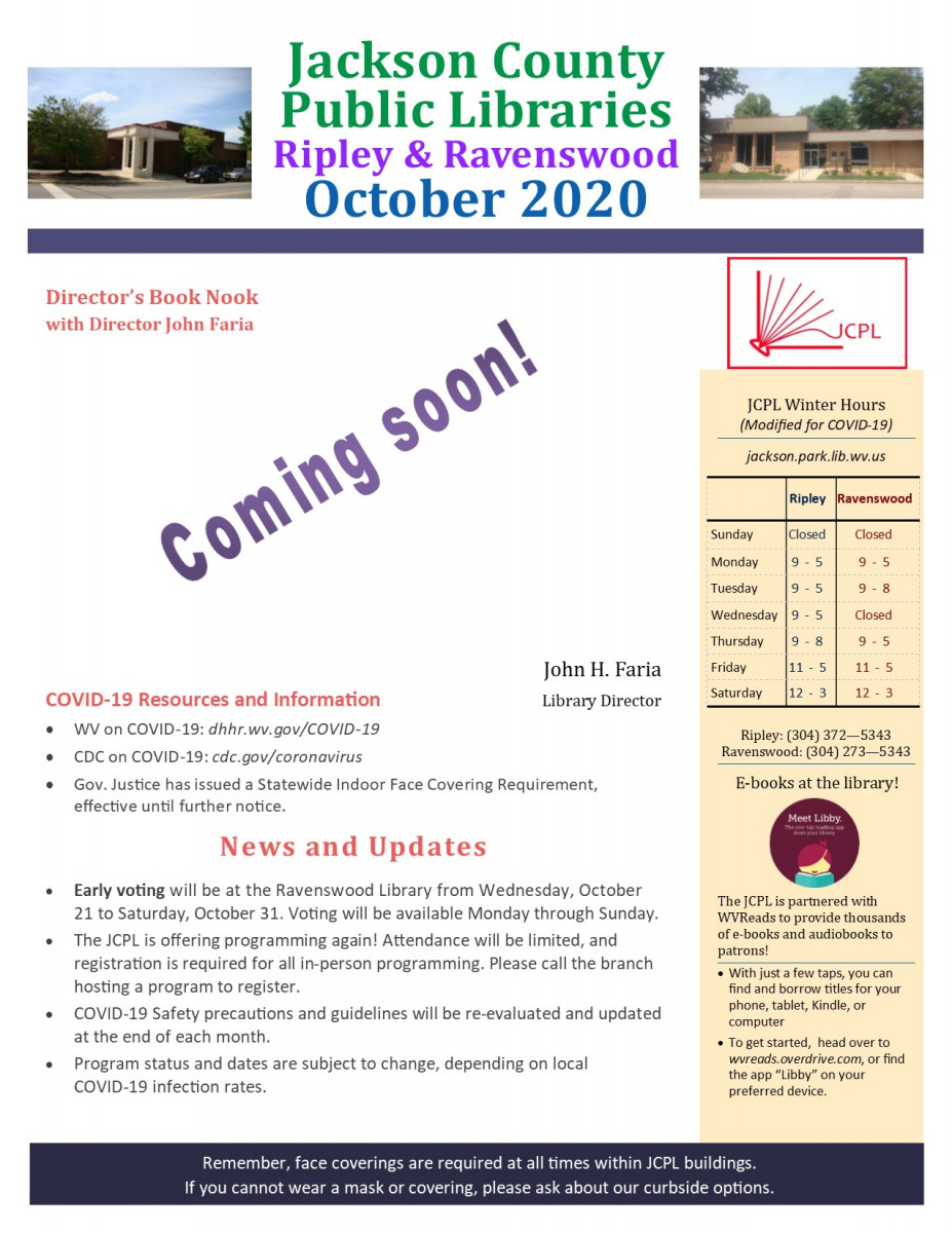 October Newsletter (Interim design)