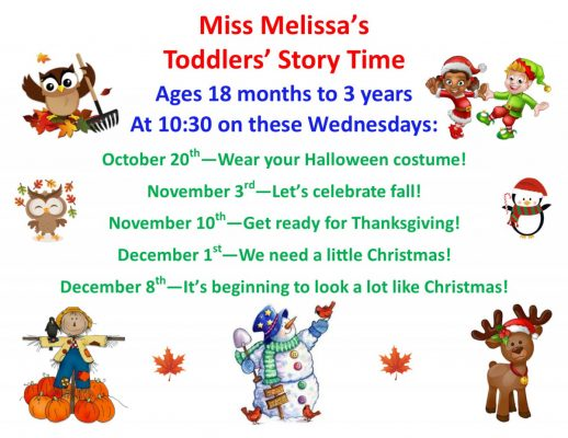 Fall and Winter Story Time with Miss Melissa