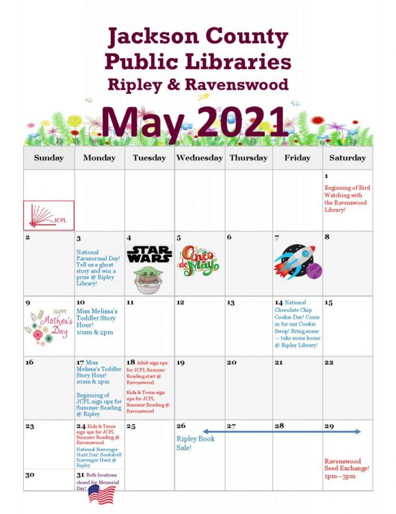 May Newsletter Insert page 001